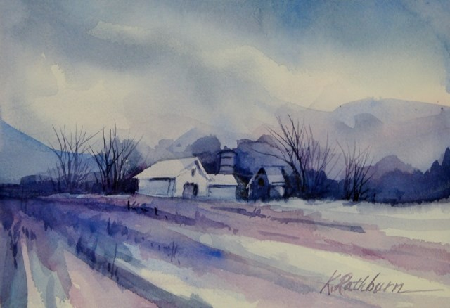 """The Colors of Winter 2016"" original fine art by Kathy Los-Rathburn"