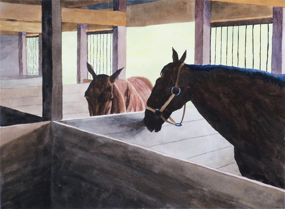 """Two Horses"" original fine art by Greg Arens"