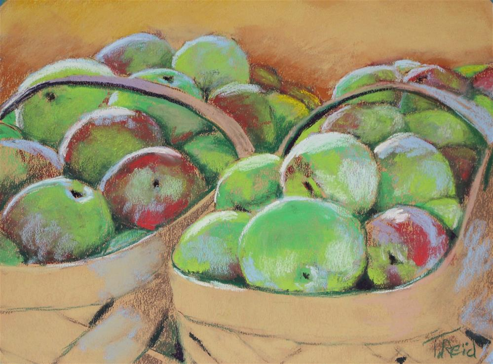 """Baskets of Apples"" original fine art by Toby Reid"