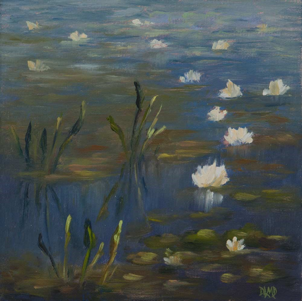 """White Jewels"" original fine art by Debbie Lamey-Macdonald"