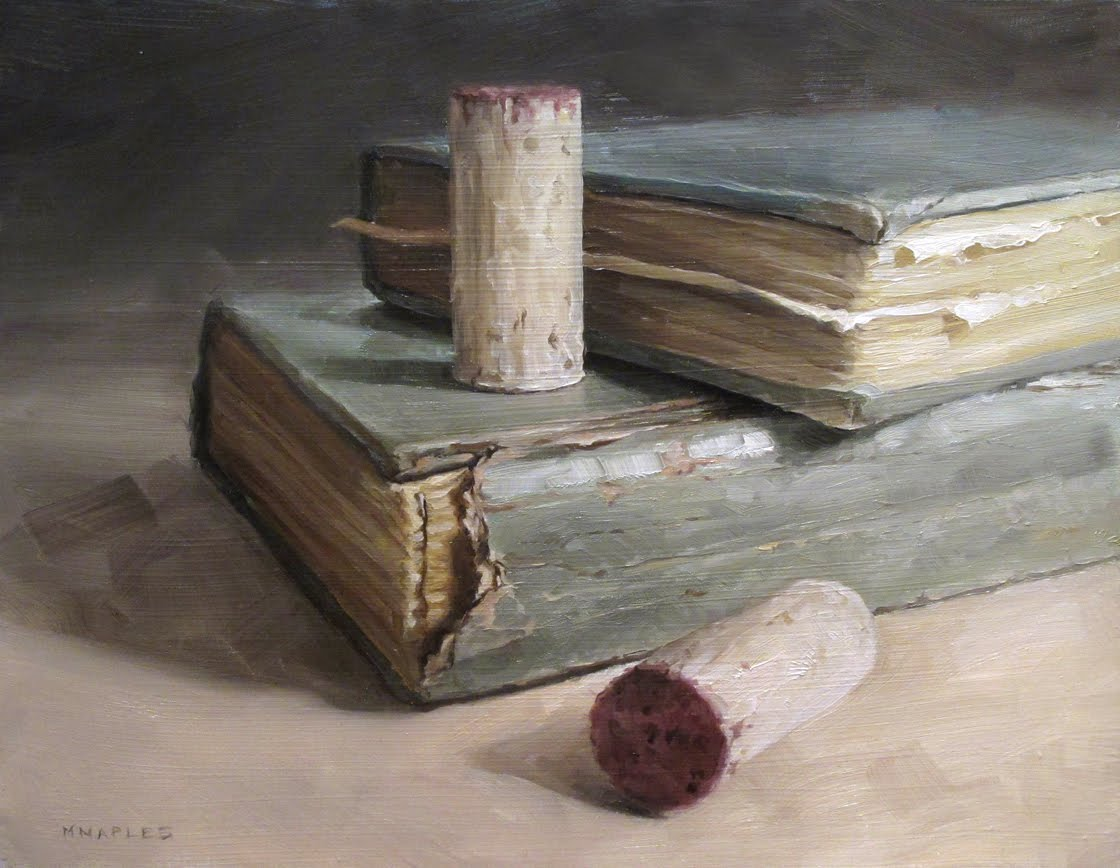 """Books and Corks"" original fine art by Michael Naples"