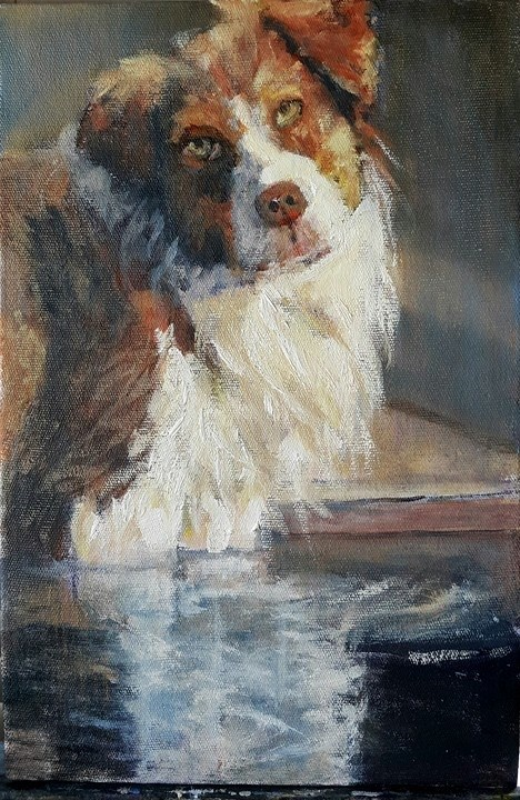 """Taking a dip"" original fine art by Rentia Coetzee"