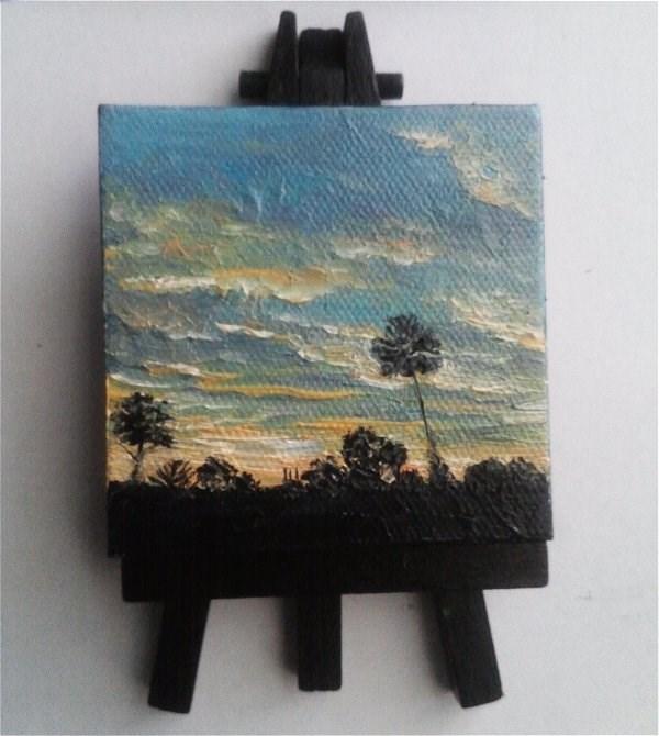 """Night Sky"" original fine art by Camille Morgan"