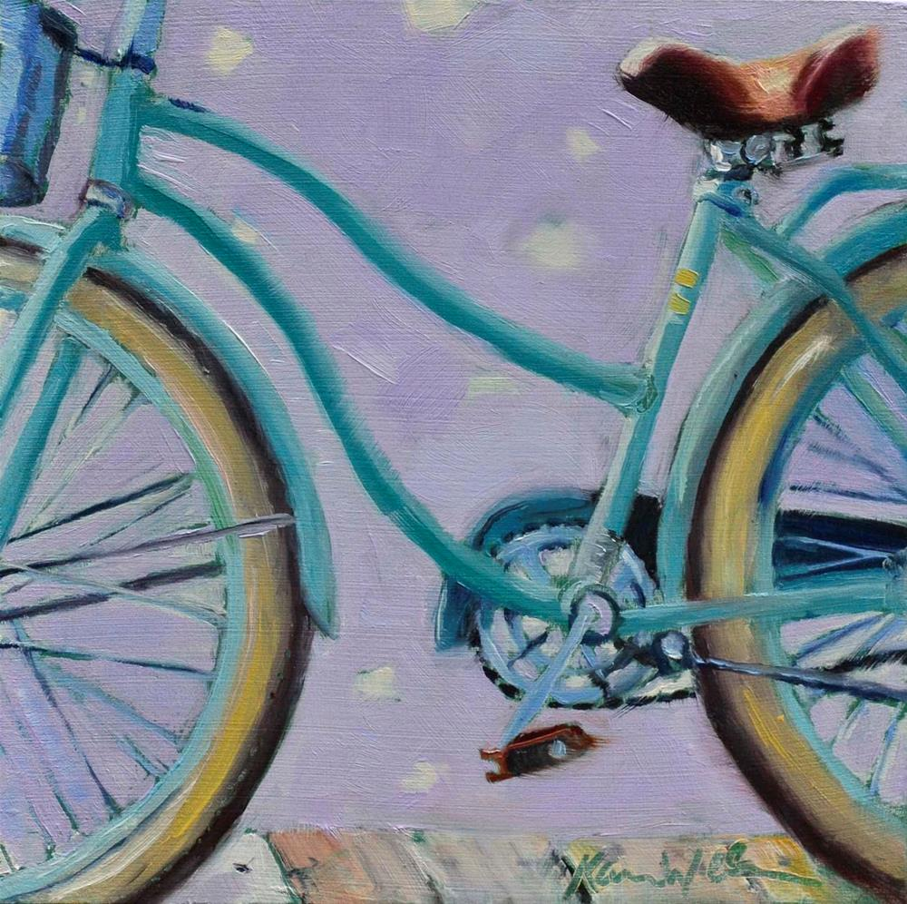 """Beach Ride 2"" original fine art by Karen Weber"