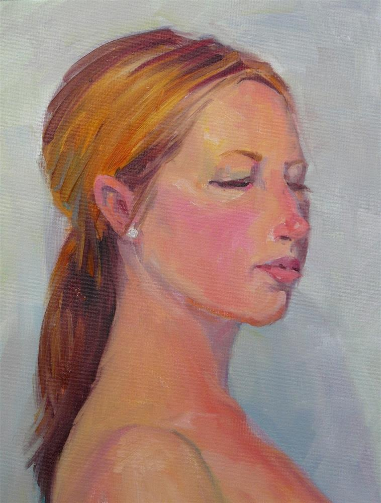 """Erin Portrait cropped,portrait,oil on canvas,16x12,priceNFS"" original fine art by Joy Olney"