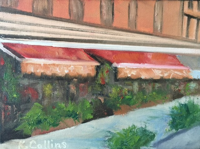 """West Village Florist"" original fine art by Kathy Collins"