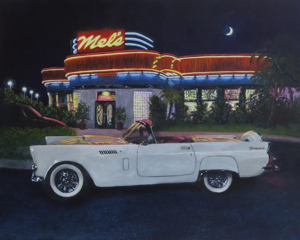 """Till Her Daddy Took the T-bird Away"" original fine art by Elizabeth Elgin"