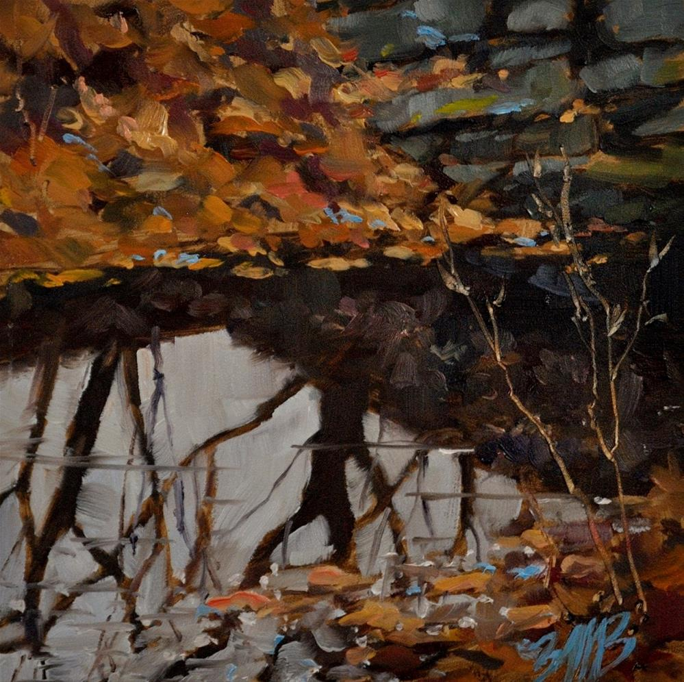 """Fall Reflections"" original fine art by Brienne M Brown"