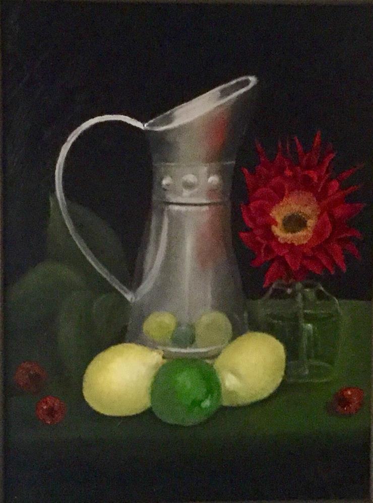 """Raspberry Lemonafe"" original fine art by Jeanne Bossart"