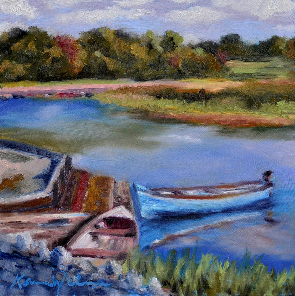 """Two to Row"" original fine art by Karen Weber"