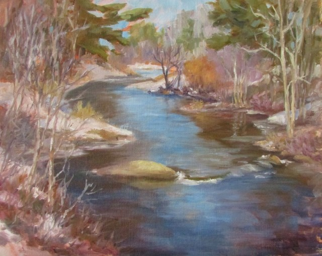 """Corinth Stream"" original fine art by Christine Lewis"