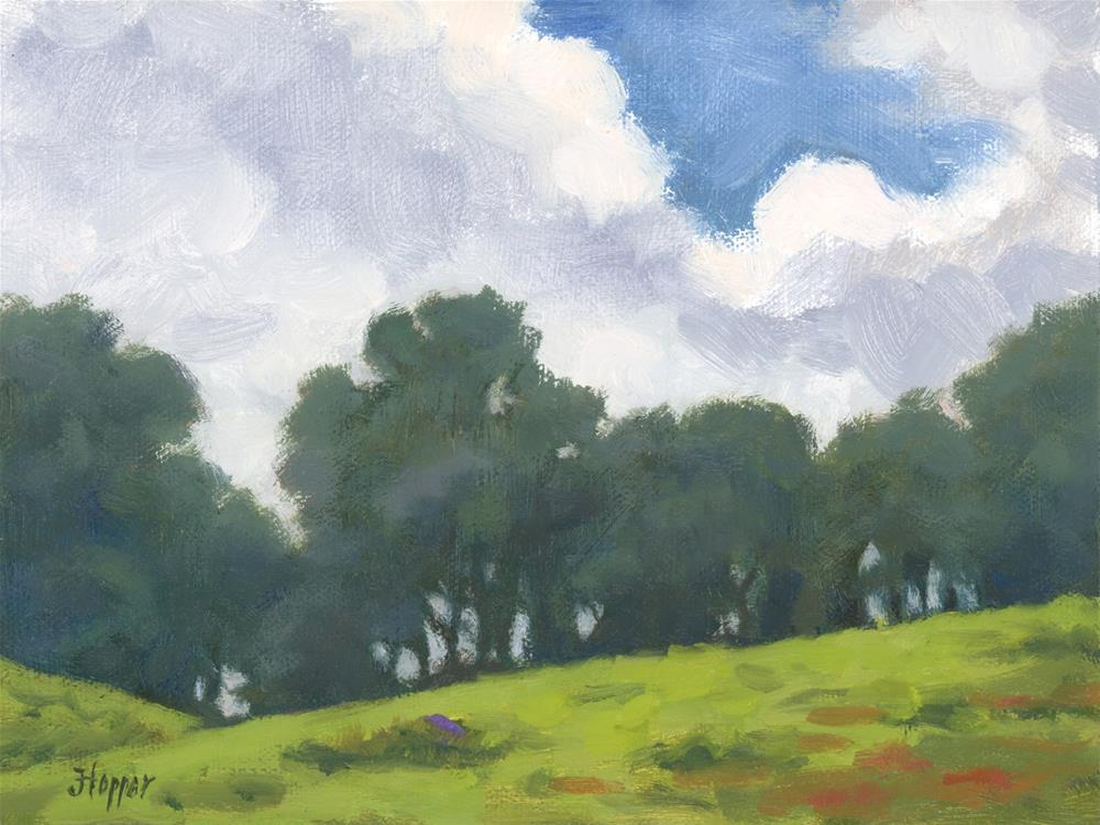 """Hanamu Road Treeline"" original fine art by Joanne Hopper"