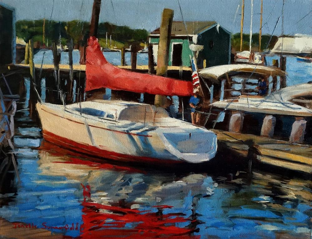 """Newport Yacht"" original fine art by Jonelle Summerfield"