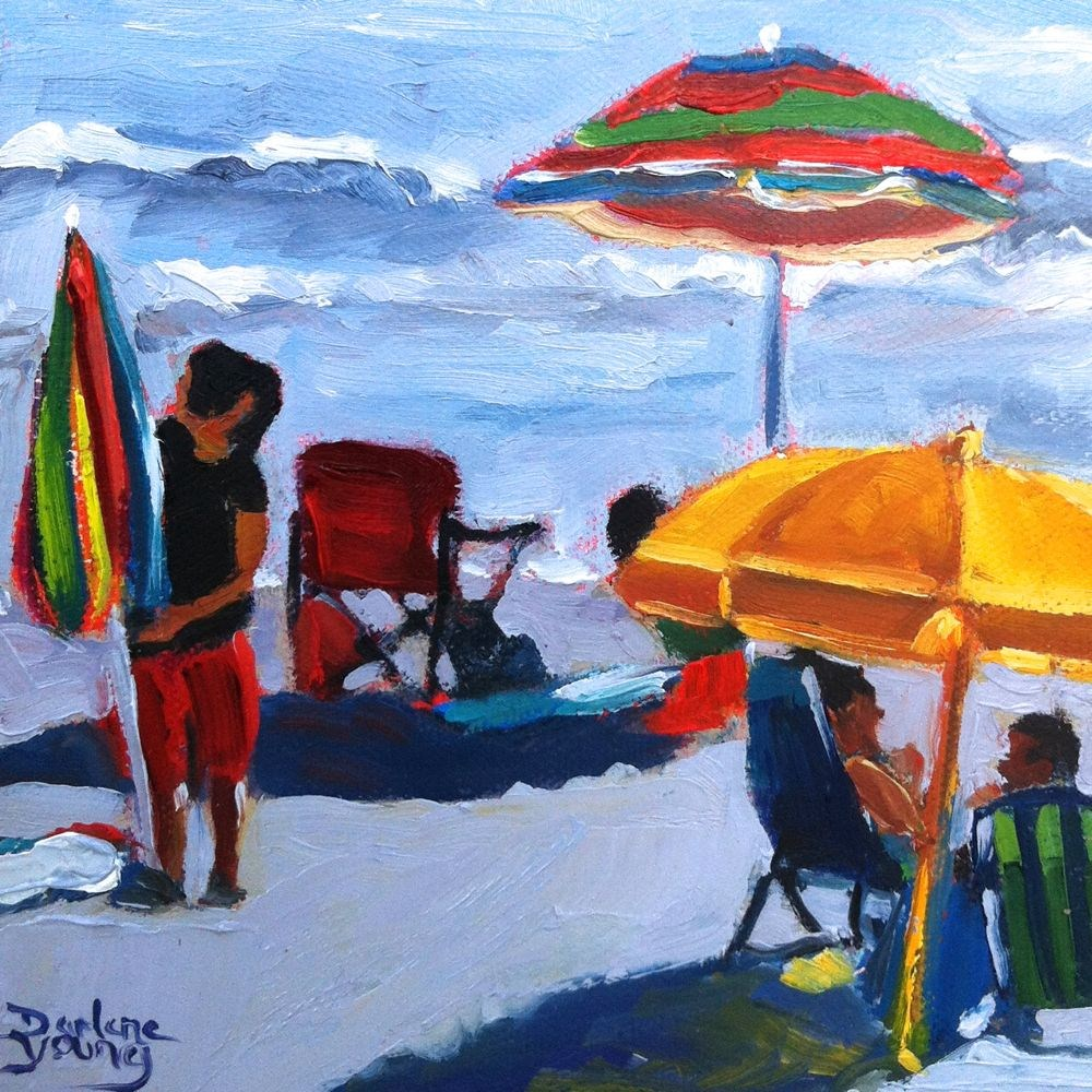 """537 Holiday Beach"" original fine art by Darlene Young"