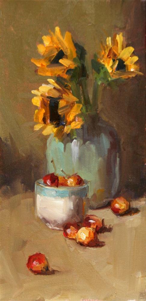 """""""flowery"""" original fine art by Carol Carmichael"""