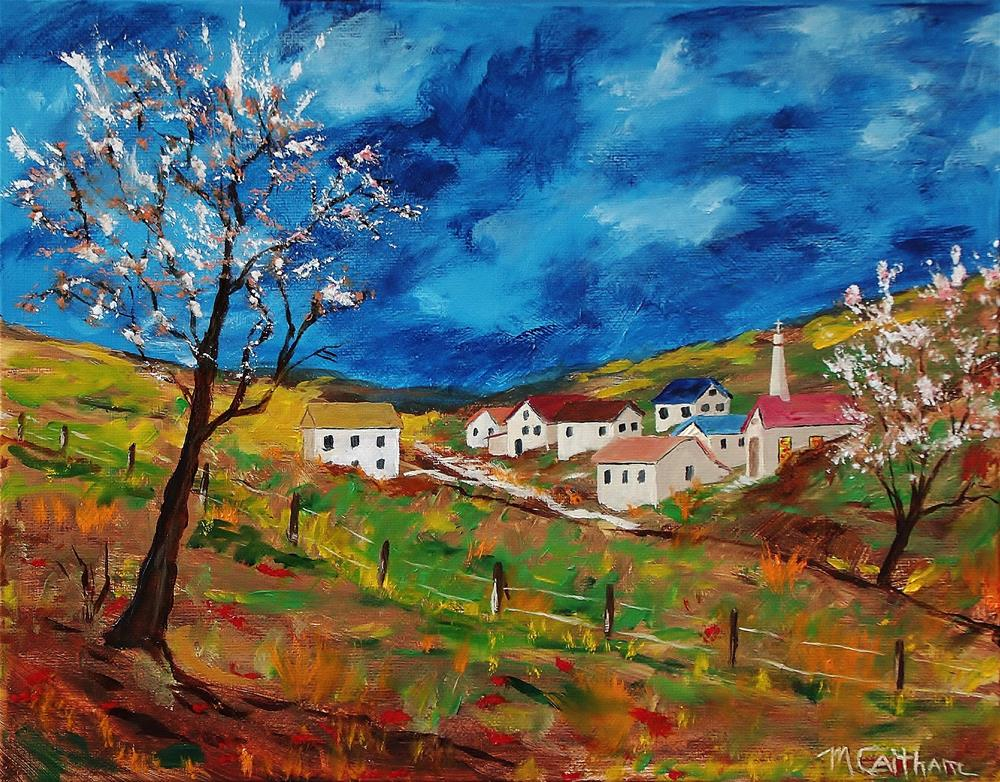 """Little Village in the Valley"" original fine art by Mike Caitham"