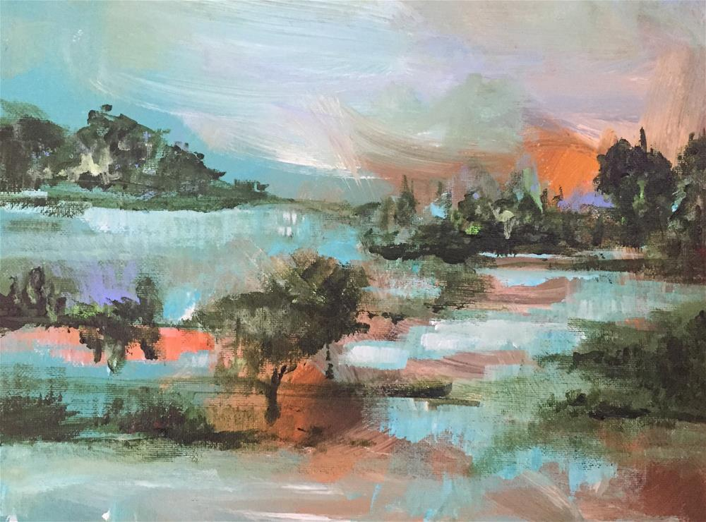 """Internal Landscape"" original fine art by Molly Wright"