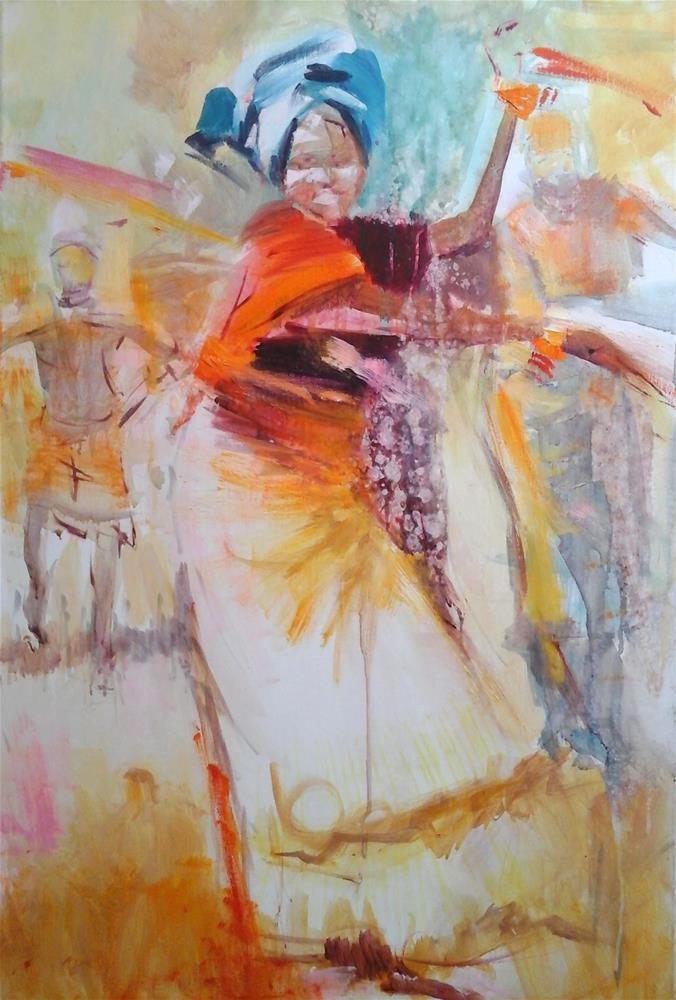 """A Reason To Dance II"" original fine art by Adebanji Alade"