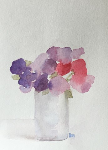 """sweet sweetpeas"" original fine art by Pamela Munger"
