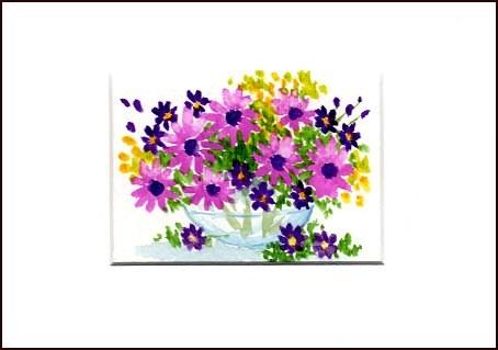 """""""Purple Daisies"""" original fine art by Patricia Ann Rizzo"""