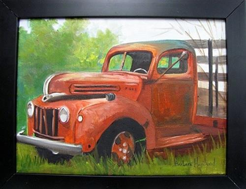 """Old Ford Truck #3  Barbara Haviland"" original fine art by Barbara Haviland"