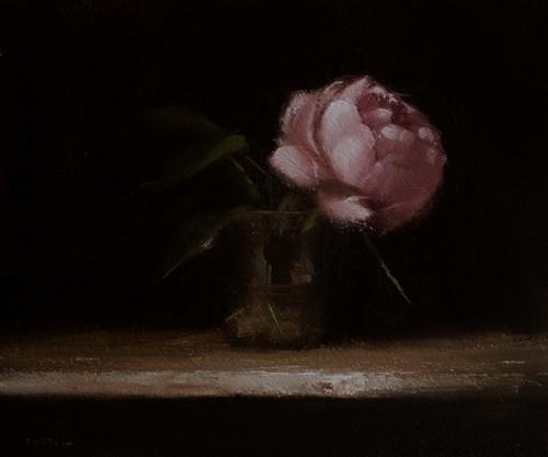 """""""Peony in Glass"""" original fine art by Neil Carroll"""
