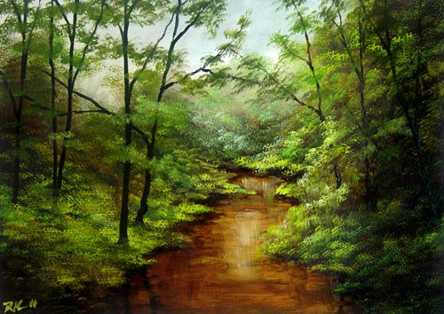 """Muddy River"" original fine art by Bob Kimball"