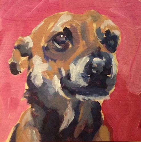 """Pretty On Pink"" original fine art by Kat Corrigan"