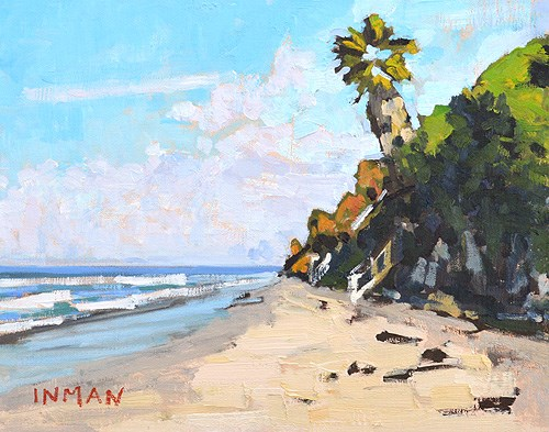 """Grandview Beach, Encinitas"" original fine art by Kevin Inman"