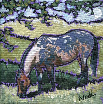 """Under the Trees"" original fine art by Nadi Spencer"