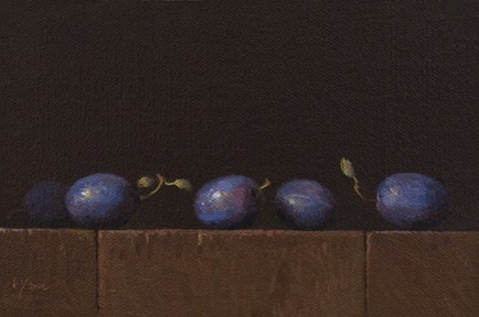 """Row of Italian Plums"" original fine art by Abbey Ryan"