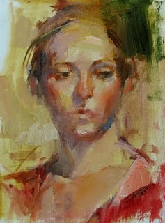 """Study with Carolyn Anderson 1"" original fine art by Qiang Huang"