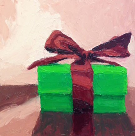 """Gift Box"" original fine art by Bobbi Heath"