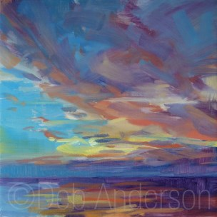 """Oil Painting: Ocean Sunrise"" original fine art by Deb Anderson"