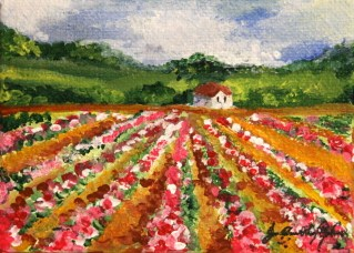 """Flower Factory"" original fine art by JoAnne Perez Robinson"