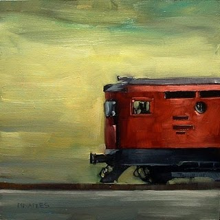 """High Speed Train"" original fine art by Michael Naples"