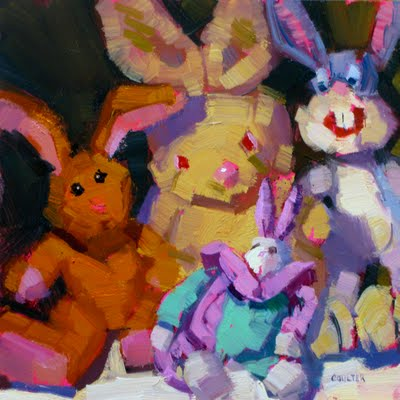 """BUNNIES"" original fine art by James Coulter"