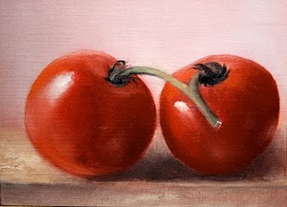 """Tomatoes"" original fine art by Jonathan Aller"
