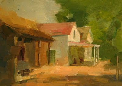 """LBJ Ranch --- Sold"" original fine art by Qiang Huang"