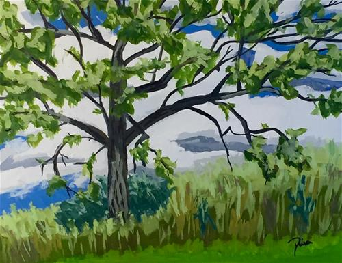 """""""Crooked Tree"""" original fine art by Reisa Peters"""