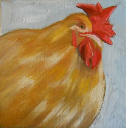 """""""Buff Chicken"""" original fine art by Claire Henning"""