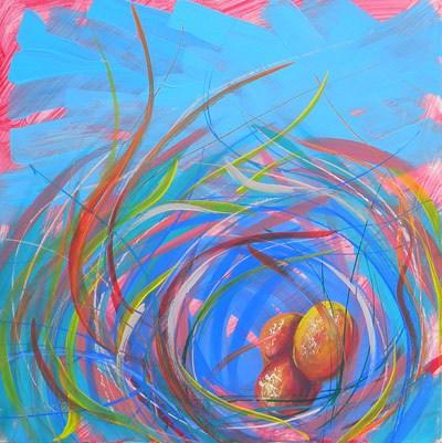 """""""Nest of Prosperity 11"""" original fine art by Pam Van Londen"""