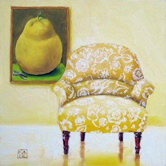 """a study in yellow"" original fine art by Kimberly Applegate"