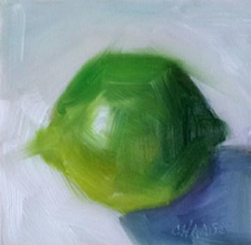 """Limeade"" original fine art by Cindy Haase"