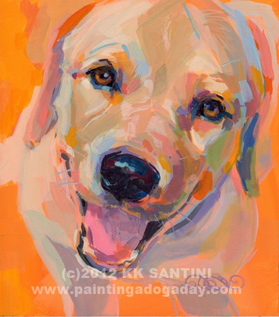 """Quincy Sunshine"" original fine art by Kimberly Santini"
