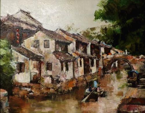 """""""zhou zhuang 4"""" original fine art by Run-      Zhang Zane"""