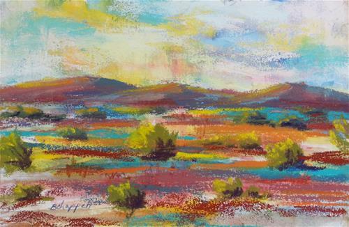 """""""Desert Colors"""" original fine art by Becky Chappell"""