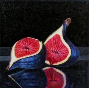 """Figs II - 1001 Nights"" original fine art by Pera Schillings"
