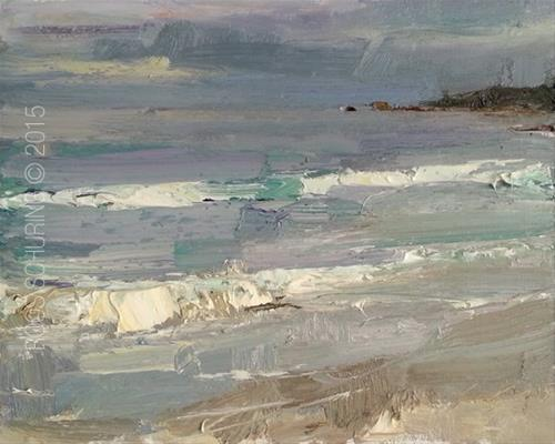 """Seascape Morning View"" original fine art by Roos Schuring"