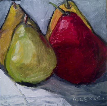 """4 pears"" original fine art by Jo Allebach"